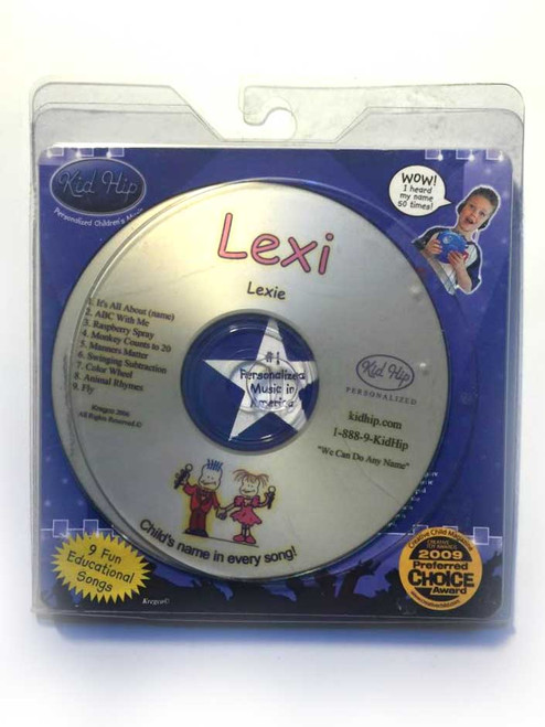 KID HIP Personalized Name (Lexi) CD- Hear Your Child's Name 50x In The Music