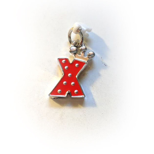 Pop Girl Ear Bud Charm: Letter X