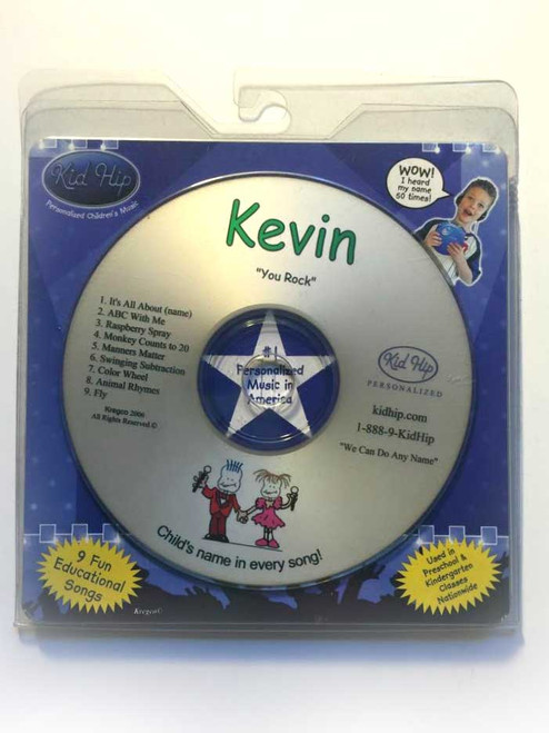 KID HIP Personalized Name (Kevin) CD- Hear Your Child's Name 50x In The Music