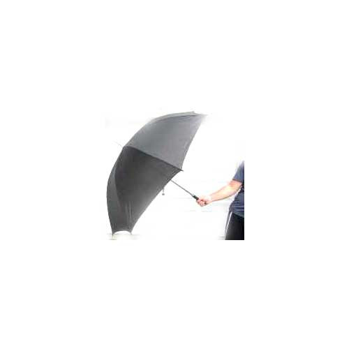"Jumbo Double-Rib Windproof 60"" Black  Umbrellas Straight Handle (Elegant Enormous 60"" umbrellas)"