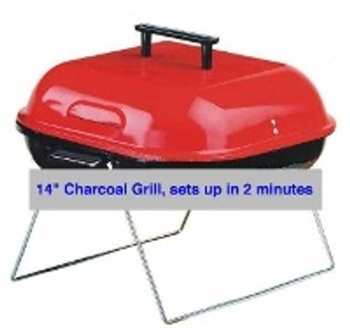 "14"" inch Deluxe Portable Charcoal Grill"