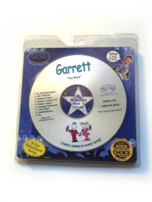 KID HIP Personalized Name (Garrett) CD- Hear Your Child's Name 50x In The Music