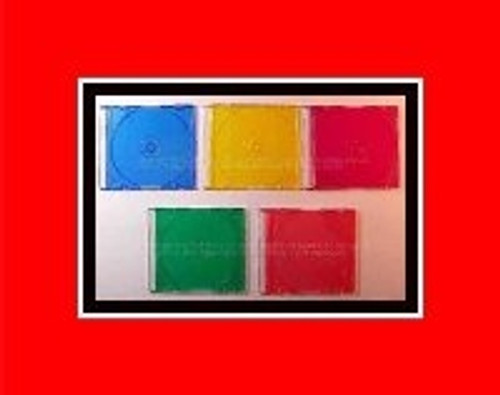 5-Pack Cd / Dvd Slim Jewel Case - 5-Colors In Every Pack