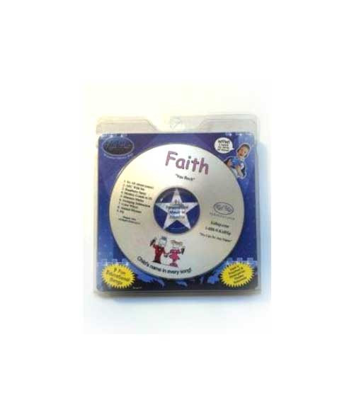 KID HIP Personalized Name (Faith) CD- Hear Your Child's Name 50x In The Music