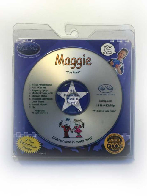 KID HIP Personalized Name (Maggie) CD- Hear Your Child's Name 50x In The Music