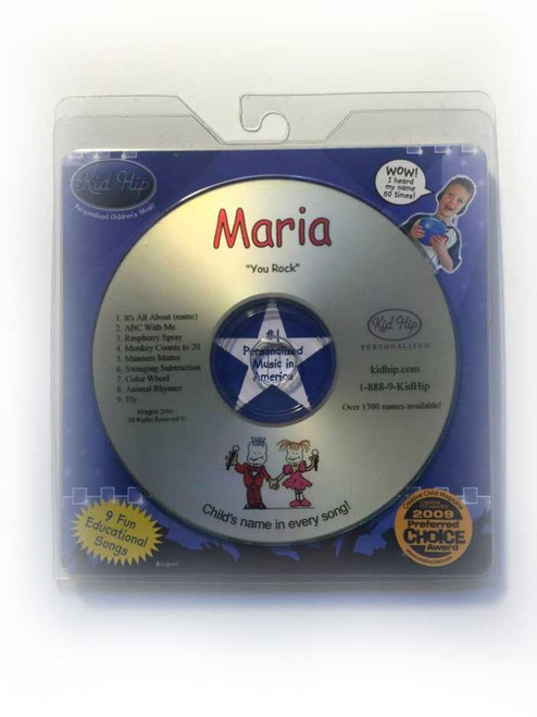 KID HIP Personalized Name (Maria) CD- Hear Your Child's Name 50x In The Music