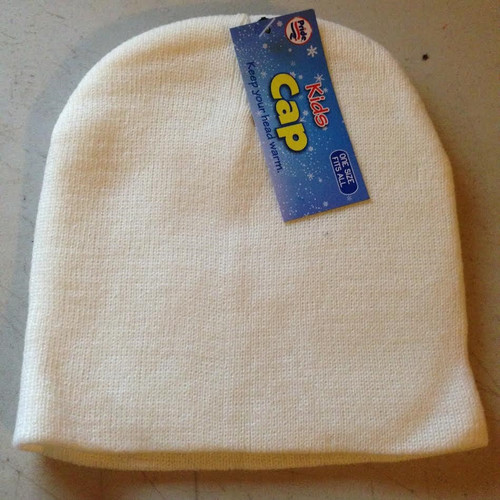 Kids Cap One Size Fits All : White