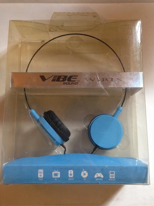 Vibe Sound Wire headphones blue