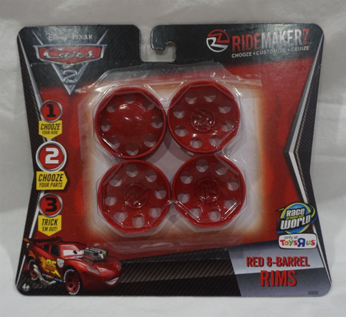 Toys R Us Ridemakerz -Disney Cars 2 Red 8 Barrel Rims
