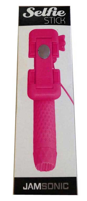 Jamsonic Pocket Selfie Stick WIRED PINK