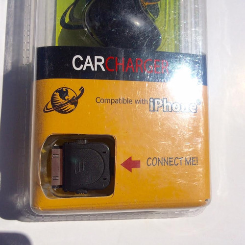 Global Direct Vibe Car Charger compatible with iPhone 4/4s/1g/3g/3gs
