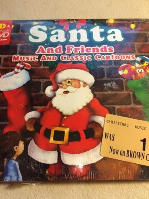 Santa And Friends Music And Classic Cartoons Cd