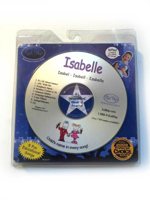 KID HIP Personalized Name (Isabella) CD- Hear Your Child's Name 50x In The Music