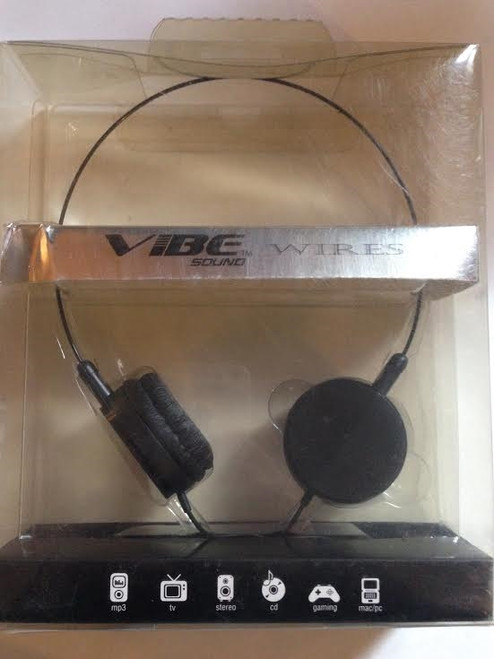 Vibe Sound Wire headphones black