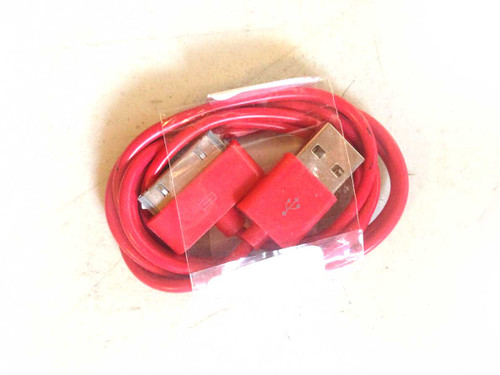 iPhone 4/iPad/iPod 3ft 30 pin Charging Cable RED