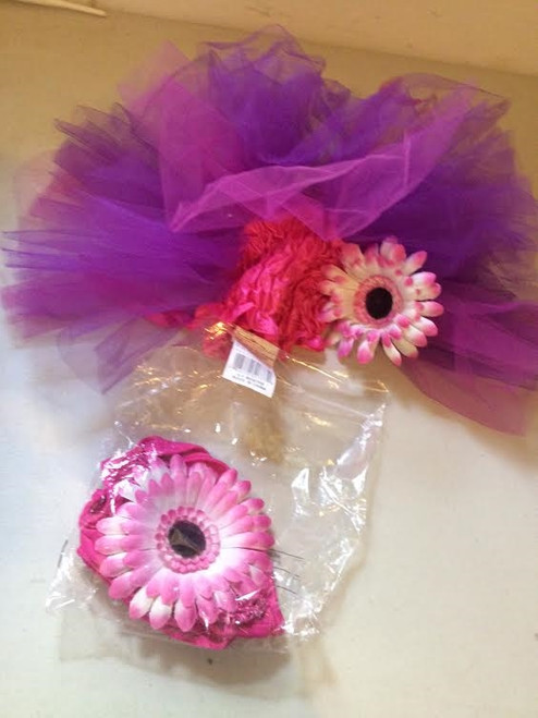 Purple/Pink Flower Power Infant Costume 6-9months