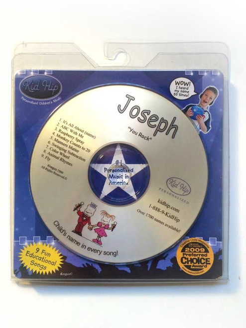 KID HIP Personalized Name (Joseph) CD- Hear Your Child's Name 50x In The Music