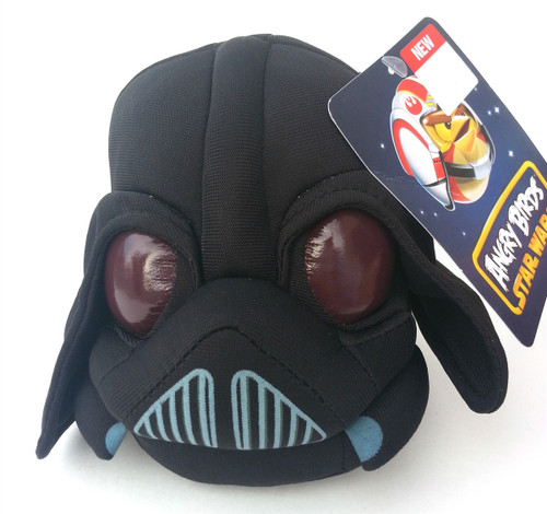 "Angry Birds Star Wars 5"" Plush Darth Vader."