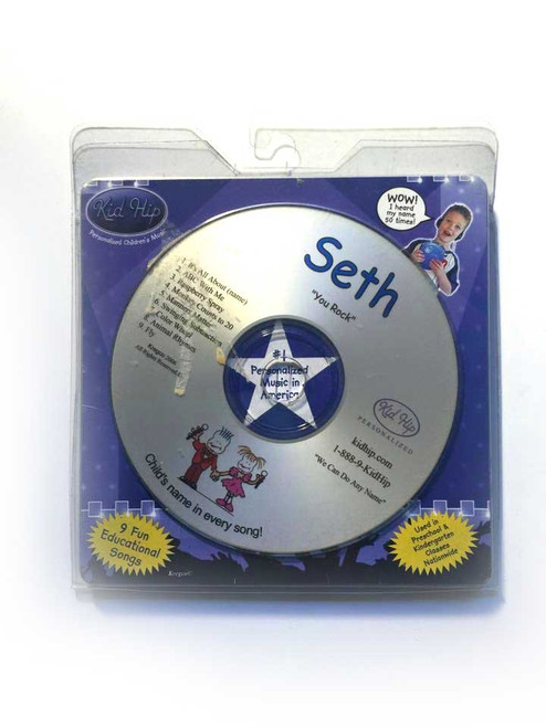 KID HIP Personalized Name (Seth) CD- Hear Your Child's Name 50x In The Music
