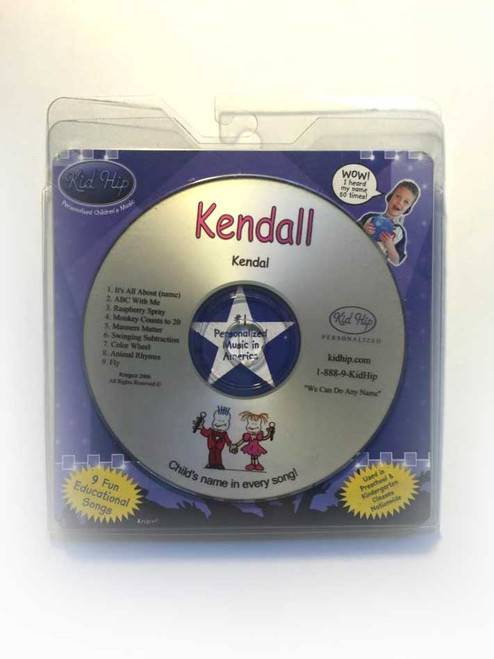 KID HIP Personalized Name (Kendall) CD- Hear Your Child's Name 50x In The Music