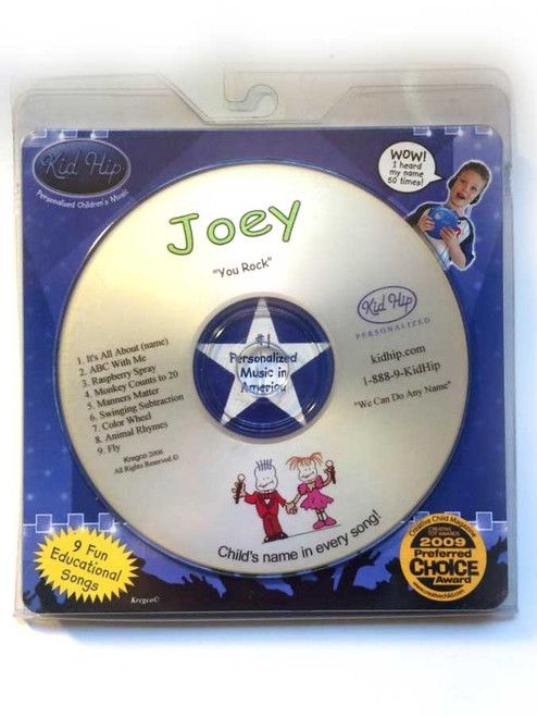 KID HIP Personalized Name (Joey) CD- Hear Your Child's Name 50x In The Music