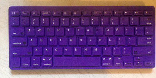 JAMSONIC BLUETOOTH WIRELESS KEYBOARD PURPLE Works with Apple, Droid, Blackberry, HTC, Motorola, LG, Samsung, Nokia, NEC, Kindle, Mac, PC.