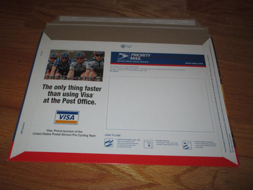 2x LANCE ARMSTRONG 2000 Tour de France USPS Priority Mail Envelope (Mint Condition) (You Get Two of These)