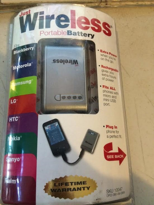 Just Wireless Ultra A/C Portable Battery HTC/PALM/BLACKBERRY/LG/NOKIA/SAMSUNG