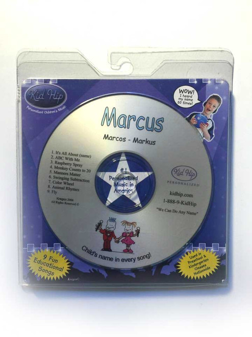 KID HIP Personalized Name (Marcus) CD- Hear Your Child's Name 50x In The Music