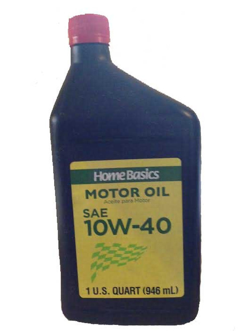 Home Basics Motor Oil Sae 10w -40 Quart