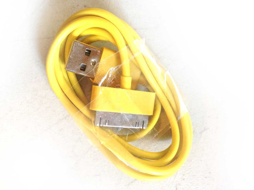 iPhone 4/iPad/iPod 3ft 30 pin Charging Cable YELLOW
