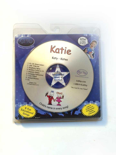 KID HIP Personalized Name (Katie) CD- Hear Your Child's Name 50x In The Music