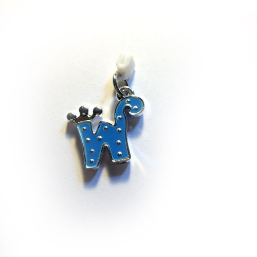 Pop Girl Ear Bud Charm: Letter W