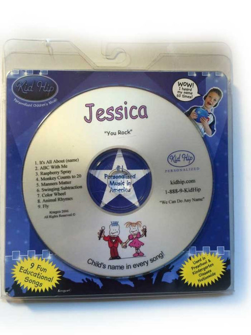 KID HIP Personalized Name (Jessica) CD- Hear Your Child's Name 50x In The Music
