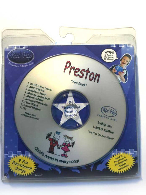 KID HIP Personalized Name (Preston) CD- Hear Your Child's Name 50x In The Music