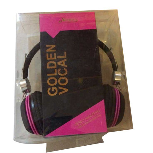 eVogue Golden Vocal Headphones PINK