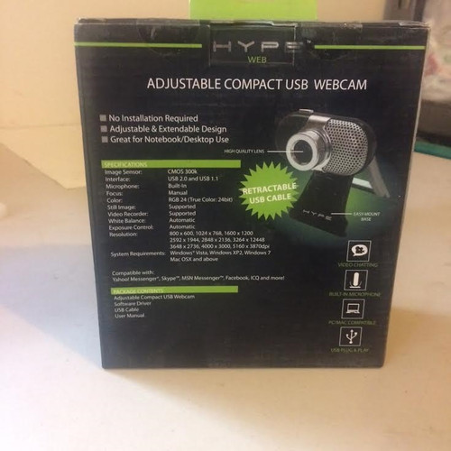 Hype adjustable compact USB webcam
