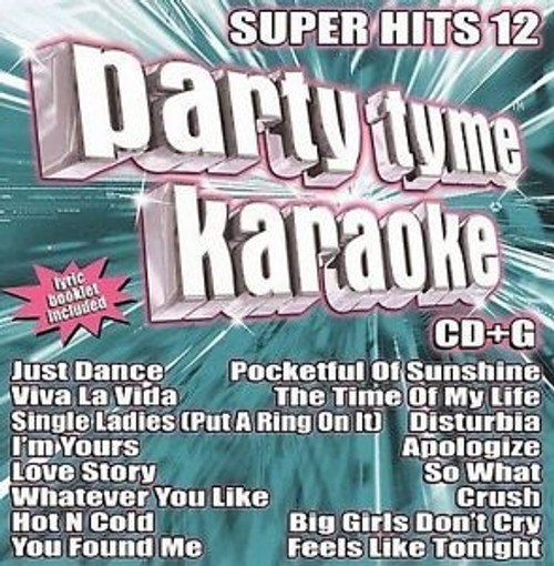 party Tyme Karaoke super Hits 12 CD
