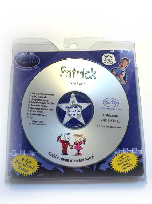KID HIP Personalized Name (Patrick) CD- Hear Your Child's Name 50x In The Music