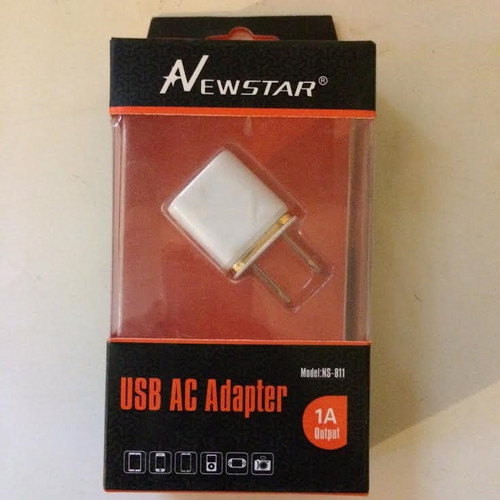 Newstar 5w USB A/C Adapter 1 A Output White/Gold