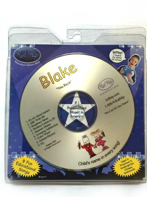 KID HIP Personalized Name (Blake) CD- Hear Your Child's Name 50x In The Music
