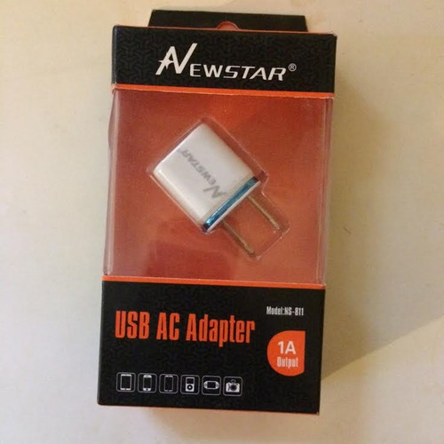 Newstar 5w USB A/C Adapter 1 A Output White/blue