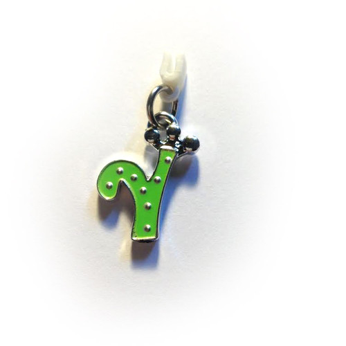 Pop Girl Ear Bud Charm: Letter Y