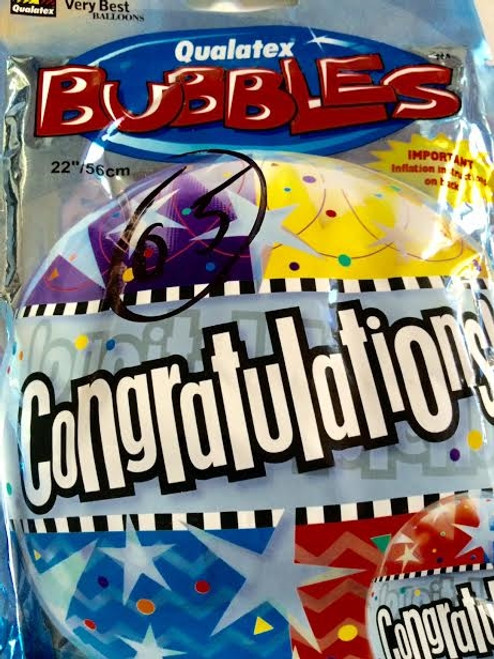 Qualatex Bubbles The Very Best Balloons Congratulations