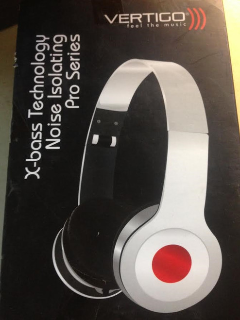 Vertigo x-bass technology Noise Isolating  Pro Series Headphones WHITE