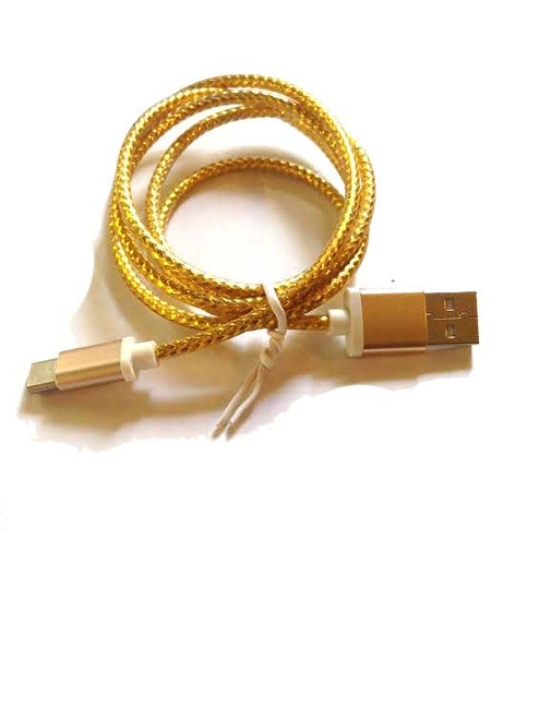 3ft USB Gold Braided