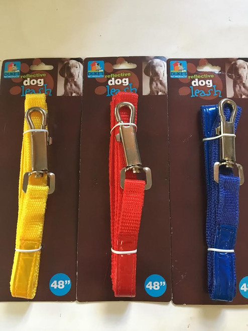 (Choose Color) 4ft Reflective Dog Leash