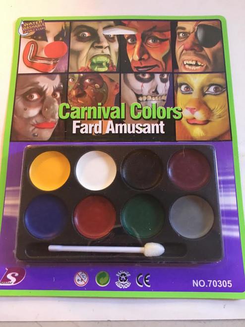 8 Color Washable Face Makeup- Carnival Colors