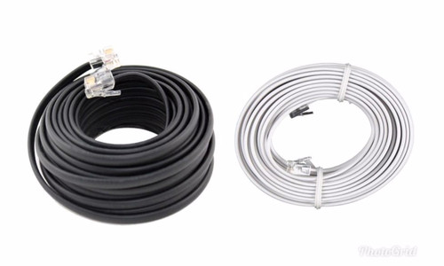 50 FT Feet RJ11 4C Modular Telephone Extension Phone Cord Cable Line (Choose Color)