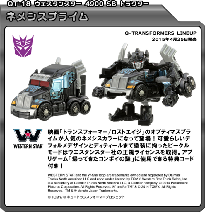 Q Transformers Series 3 - QT18 G1 Nemesis Prime